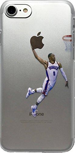 Weiche TPU Basketball Fall mit Ihrem Lieblings-Vergangenheit und Gegenwart Spieler, iPhone 7 and 8, Westbrook (Basketball Iphone Fall)