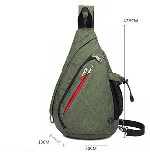 Nuovo grande capacità petto Pack versione coreana maschio di aumento di pacchetti di gocce all'aperto il borsa borsa a tracolla in tessuto impermeabile , blue increase army green increased