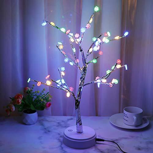 Uonlytech luz Noche Forma árbol lámpara Escritorio