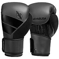 Hayabusa S4 - Juego de guantes de boxeo y vendas de mano, 12oz, Carbón