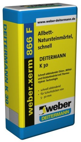 weber.xerm 866 F, 20kg - Allbett-Natursteinmörtel, schnell