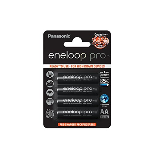 Galleria fotografica Panasonic eneloop Pro batteria AA - 4-Blister (BK-3HCCE/4BE)