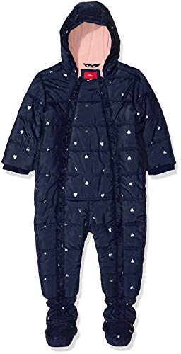 s.Oliver RED LABEL Unisex - Baby Winter-Overall mit Glitzerherzchen navy AOP 80