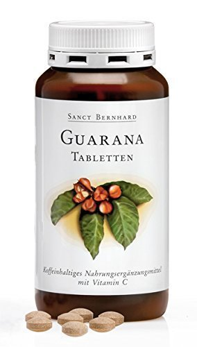 Sanct Bernhard Guarana-Tabletten mit Guarana, Vitamin C 250 Tabletten