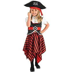 Disfraz pirata para niña, diferentes tallas.