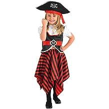 Rubies - Disfraz pirata para niña (883620S)