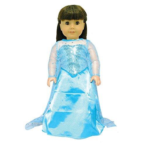 Elsa American Girl-puppen (American Girl Doll-Kleid Queen Set Elsa Design, für Kunstnägel American Girl Puppen und Madame Alexander Puppen)