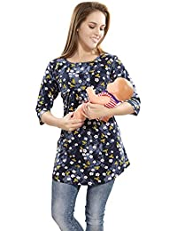 AV2 Printed Women Maternity Feeding Tunic Top 8029