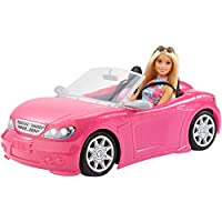 Mattel Barbie Doll + Convertible, Pink