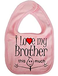 IiE, I love my Brother this much, Boy Girl Unisex Feeding Bib