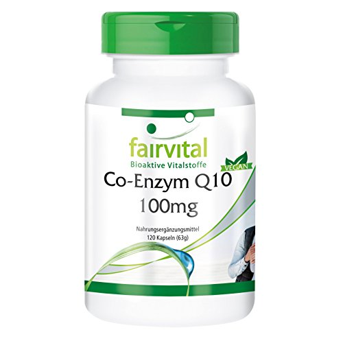 Co-Enzym Q10 100mg - 120 vegane Kapseln - steigert die körperliche und geistige Leistungsfähigkeit