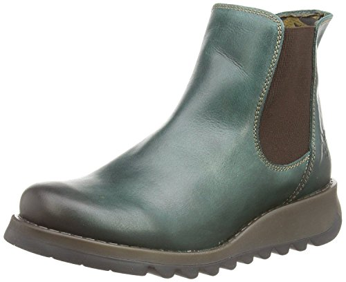 Fly London Salv Petrol Leather Womens Ankle Boots-37