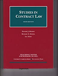 Studies in Contract Law (Teaching Notes) (University Casebook Series) by Edward J. Murphy (2003-08-02)