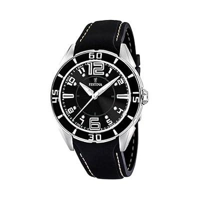 Reloj de mujer FESTINA F16492/6 de cuarzo, correa de plástico color negro de FESTINA