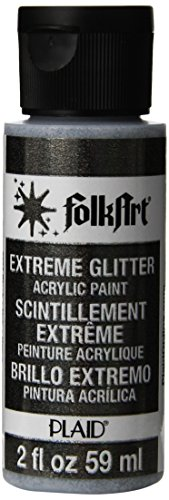 FolkArt Extreme Glitter Farbe (2Unze), schwarz, 2 Ounce