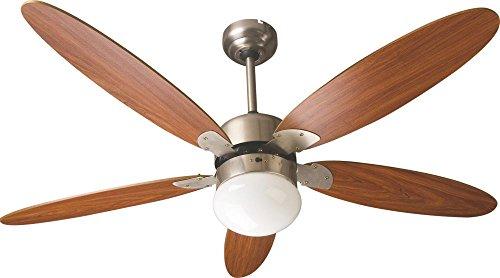 Zephir zfr9111m ventilatore da soffitto con lampada marrone