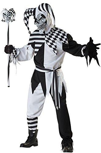 DLucc Goldene Paar schwarze und weiße weibliche Clownkostüm Clown-Kostüm für Halloween-Kostüme - Clown Halloween-kostüme Weiblich