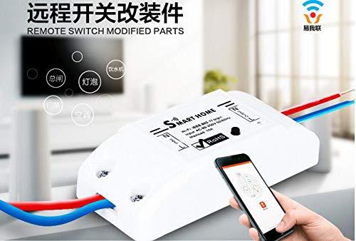 Topsale-ycld WiFi Smart Wireless Switch Automation Module Remote Control Timer Support Alexa/Tmall Genie/Google Home Voice Control Wireless Switch