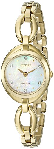 Citizen Eco-Drive Silhouette Gold EX1432-51D - Citizen Eco Drive Silhouette