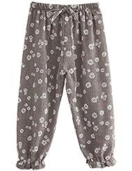 ESHOO Bébé Enfants Respirant Pantalons Floral En Coton Culotte Bouffante