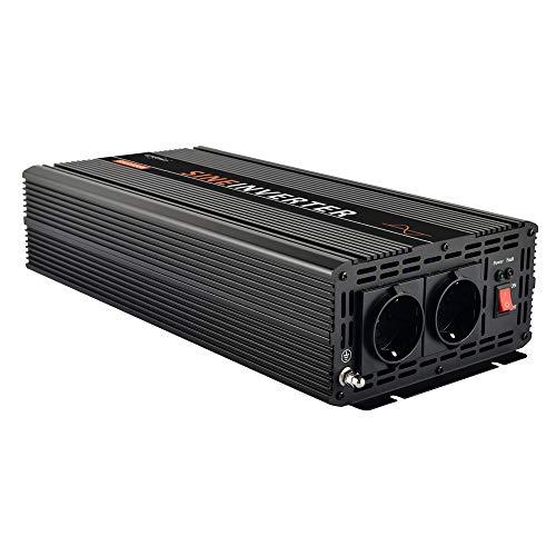 EnRise 2500W Spitzenwert 5000W 12V auf 230V Reiner Sinus Wechselrichter Spannungswandler