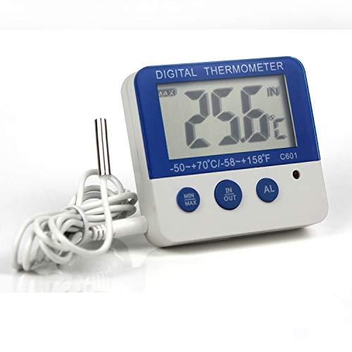 Ytian Digital Gefrierschrank/Kühlschrank Thermometer mit LED Alarm Indikator Max/Min Speicher Gefrierschrank Thermometer für Haus Küche Restaurants Bars Cafes