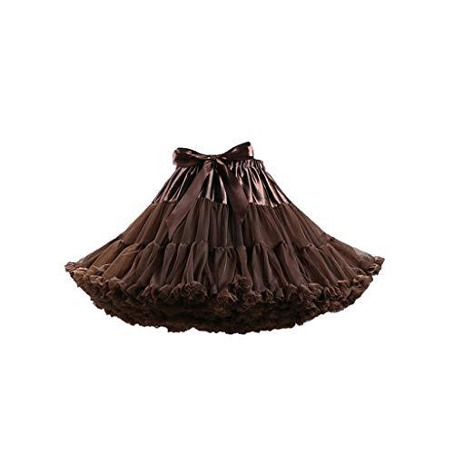 SEWORLD Damen Tutu Abendkleider Schöne Frauen Damenrock Mädchen Tüllrock Kurz Ballet Tanzkleid Unterkleid Cosplay Crinoline Petticoat für Rockabilly Kleid K