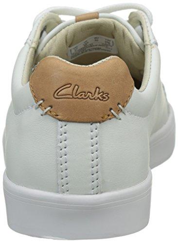 Clarks Brill Rap Jnr, Sneakers basses garçon Blanc (White)