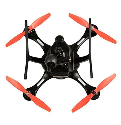 EHANG GHOSTDRONE 2.0 VR (android)FPV RC Drone Profi Quaddrocopter Drohne mit Smartphone APP Steuerung und Kamera Live Video Übertragung zur VR Brille, Professionelle Kamera Drohne inkl. 4K HD Kugel Kamera, hochpräzisem 3-Achsen Gimbal und VR Brille, 25 Min Flugdauer, Bis zu 1000m Sendebereich, schwarz/orange - 4