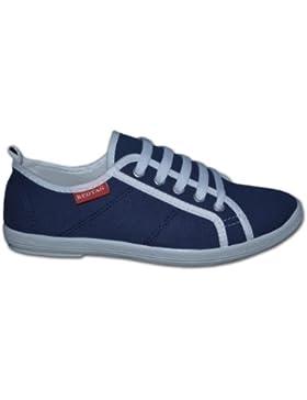 [Patrocinado]Red Tag - Zapatos de cordones para niña, color azul, talla 40
