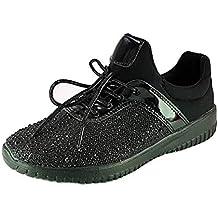 PICCOLI MONELLI Sneakers Donna Scarpe da Passeggio tg 38 Colore Nero di  Tela con Brillantini Finti 8f04f669b13