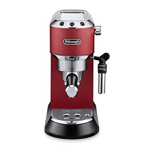 De\'Longhi Dedica EC 685.R Espresso Siebträgermaschine | 15 bar |  Professionelle Milchschaum Düse| Füllmenge 1 l | Vollmetallgehäuse | Auch für Pads geeignet | Rot