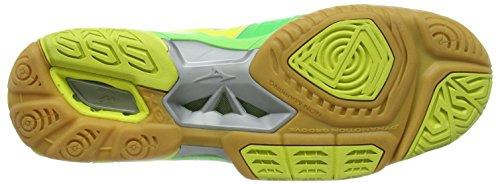 Mizuno  Wave Stealth 3, Chaussures de Handball femme Grün (neon/lime green)