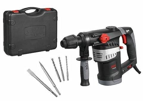 Skil 1766AK Marteau Perforateur Burineur SDS Plus (1500W, 4,5 J, Set d'accessoires 5 pièces,