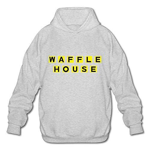 Herren Casual Waffel House Tee Shirts Tshirt Kurzarm Rundhals Baumwolle T-Shirt Tshirt Pullover Hoodie Sweatshirt Ash L Ash Pullover Hoodie