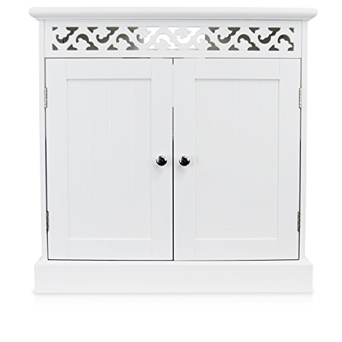 """1PLUS Waschbeckenunterschrank Badezimmerschrank Badschrank groß """"Arona"""", 61 x 33 x 61 cm (B x T x H), Weiß"""