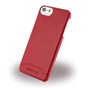 Cerruti 1881 CEHCP7SLRE Smooth Split Leder Hart Schutzhülle für Apple iPhone 7 rot