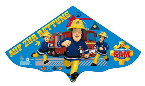 molinoRC Wunderschöner Feuerwehrmann Sam Drachen   Drache Sam 115x63cm   Herbstdrachen incl. Schnur   Kinderdrachen   Drachenflieger   Blitzversand BRD