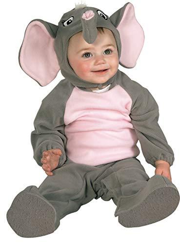Disfraz de elefante para niño, Talla bebé 6-12 meses (Rubie's 81215-I)