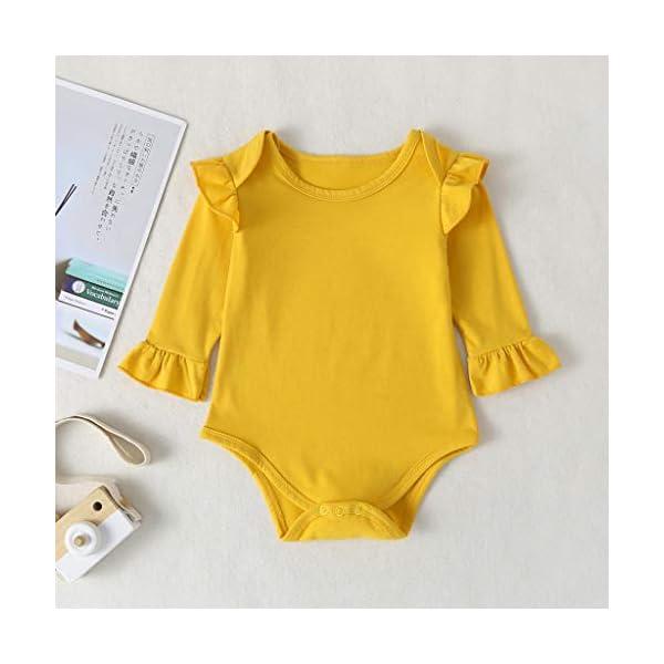 niñito niños Mono Infantil Bebé Niñas Mono sólido Mameluco + Dibujos Animados Conejos Pantalones Conjuntos de Conjuntos 3
