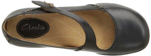 Clarks Felicia Plum, Chaussures de ville femme Noir (Black Leather)