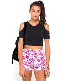 Motelrocks - pantalón corto deportivo de los Mizzy Monorose Motel de color rosa para