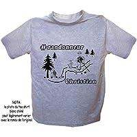 Texti-Cadeaux-Tee shirt Randonneur-personnalisé avec un prénom exemple Christian