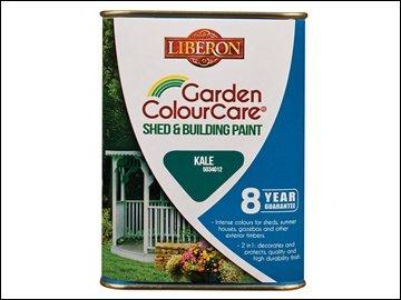 Preisvergleich Produktbild LIBERON Schuppen und Building Paint 1L Farbe Grünkohl