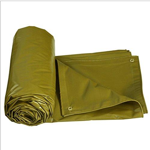Swein XD Plane-Starkes PVC-Wasserdichtes Sunscreen-Lager-Auto-Planen-Spezielles Isolierungstuch-Armee-Grün 520G im Freien/Quadratmeter 100% imprägniern und UVschutz (Farbe : Gelb, größe : 5x4m)