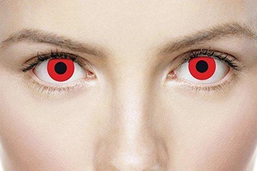 Fancy Me Damen Herren Erwachsene rot Vampir Halloween Horror Rabe Party unheimlich Augen Kostüm Zubehör