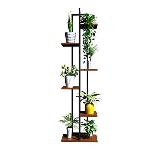 BWHTY Rack 6-Tier-Eisen-Blumen-Zahnstangen/Pflanzen-Stand fuuml,r Wohnzimmer-Balkon und Innen/im Freien Metallschwarzer stehender Zahnstangen-Bonsais-Ausstellungsstand (Farbe : #3) - 3-tier Bathroom Regal