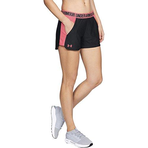 Under Armour, Damen-Shorts Play Up 2.0, kurze Hose, damen, Black/ Black/ Brilliance, MD (Short Gym Stricken)