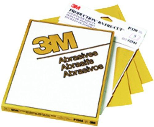 3M 02548Produktion Gold 22,9x 27,9cm P100A Körnung Resinite Tabelle