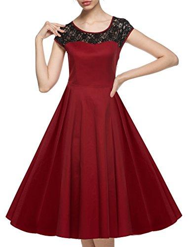 cooshional - Robe - Trapèze - Femme Rouge